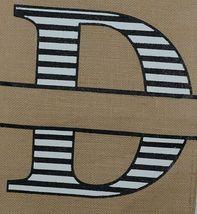 Kate Winston Brand Brown Burlap Monogram Black And White D Garden Flag image 3