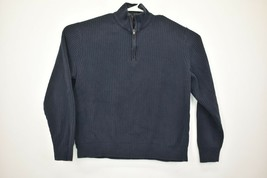 Calvin Klein Men's 2X-Large Long Sleeve Ribbed 1/4 Zip Pullover Sweater  - $21.99