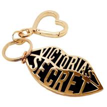 New VICTORIA'S SECRET Gold Lips & Heart Keyring Keychain Bag Charm - $24.66