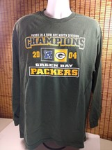 Nfl 2004 Green Bay Packers Long Sleeve Shirt Mens Xl 3 In A Row Div Champions - $18.95