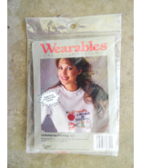 Tear-Away Canvas Cross Stitch Id Rather Be Stitching Wearables - $8.99