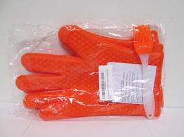 EKP Kitchen Silicone (2) Oven Mitts & (1) Basting Brush Set - Orange [EH-E] - $14.03
