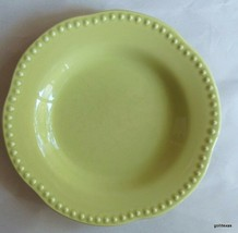 "Pottery Barn Emma Lime Green Rimmed Soup Bowl 8 7/8"" - $14.00"