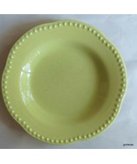 "Pottery Barn Emma Lime Green Rimmed Soup Bowl 8 7/8"" - $14.00"