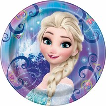 Disney Elsa Frozen Magic Round Lunch Plates 8 Count Birthday Party Suppl... - $3.85