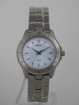 Seiko watches stainless steel bracelet and screw case back blue dial SWK493P1 - $153.45