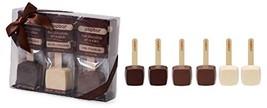 Hot Chocolate Sticks - 6 Pack Variety Gift Box - Dark, Milk, Vanilla Whi... - $24.35