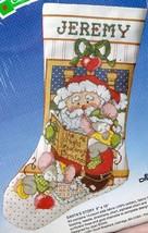 Santas Story Santa Christmas Cross Stitch Stocking Kit Good Shepherd 95-... - $34.95