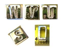 Alphabet Metal Ribbon Slip Bead For Bracelet, Necklace, Crafts image 1