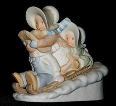 1993 A Sledding We Will Go Figurine - HOMCO By MasterPiece AA20-2386 Vintage Cir