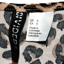 H&M Divided Women's Leopard Animal Print Playsuit Jumpsuit Romper Size 0 image 3