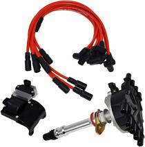 96 02 Chevy GMC VORTEC Distributor, 8mm Spark Plug Wires, Ignition Coil & Module image 1