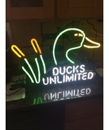"New Ducks Unlimited Beer Light Neon Sign 24""x20"" - $186.99"