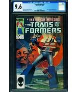 TRANSFORMERS #1 CGC 9.6 comic book 1984  Marvel 2021159002 - $272.81