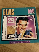 Elvis 550 Piece Puzzle Stamp Sealed Limited Edition Presley 1992 Singer Young - $19.79