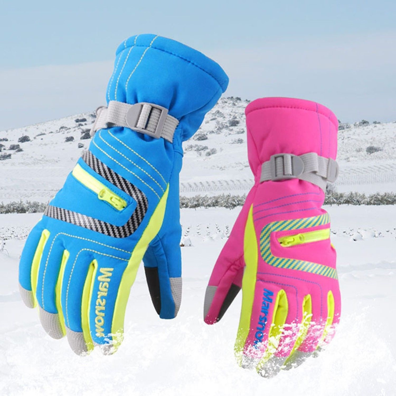 Marsnow Skiing Gloves Waterproof Warm Winter Snowboard Snow Kids Adults Ski Mens