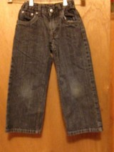 Faded Glory boys size 5 BLUE JEANS SIZE 19x16 boot cut  - $5.95