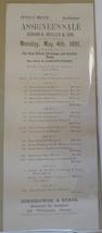 Assignee's Sale 1891 broadsheet Mullen NY real estate auction ephemera a... - $9.00