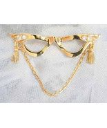 Elegant Avon Crystal Rhinestone Golden Glasses ... - $12.95