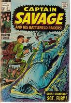 Marvel Captain Savage #11 Sgt Fury War Battlefield Raiders Action Adventure - $9.95