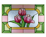 Stained glass tulips 20x14 horizontal  v 555 thumb155 crop