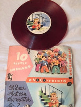 1949 Kiddie Parade VOCO Red RECORD with 10 Little Indians and Oh Dear  - $14.84