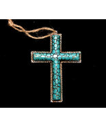 Western Styled Turquoise Look Cross Christmas Ornament No. 3 - $5.95
