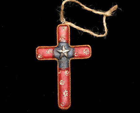 Western Styled Cross Christmas Ornament No. 4