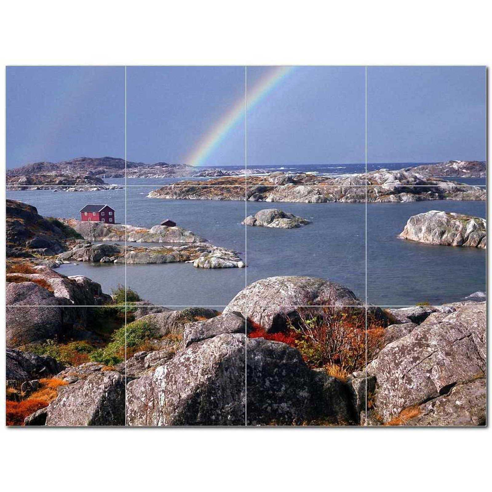 Primary image for Rainbow Photo Ceramic Tile Mural Kitchen Backsplash Bathroom Shower BAZ405688