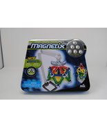 RARE New Magnetix Collectors Tin 75 Pieces w/ Build-Off Arm by Mega Coll... - $49.99