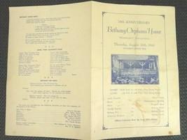 1941ntique BETHANY ORPHANS' HOME PROGRAM womelsdorf pa 78th Anniversary - $22.50