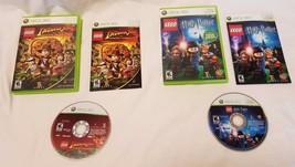 Lot of 2 Xbox 360 Lego Harry Potter Years 1-4  & Indiana Jones The Origi... - $12.86
