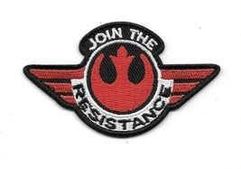 Star Wars The Force Awakens Join The Resistance Red Logo Embroidered Pat... - $7.84