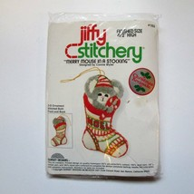 Jiffy MERRY MOUSE in a Stocking Christmas Ornament Embroidery Kit #102 V... - $12.55