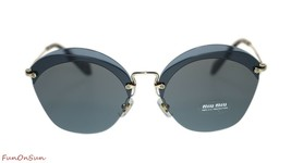 Miu Miu Irregular Sunglasses MU53SS VX09K1 Transparent Blue/Grey 63mm - $193.03
