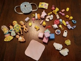 Doll Accessories Bits Pieces Lot for Barbie Baby Dolls Diapers, bottles,... - $31.17