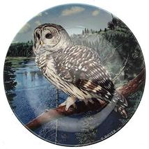 Danbury Mint Wedgwood owl Plate The Majesty of Owls Barred Owl Trevor Boyer CP15 - $35.67