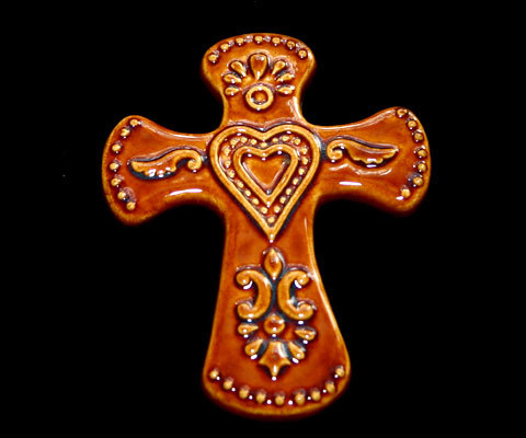 Cross ceramic brn