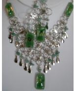 Alpaca Green -Tri Necklace  w Earrings (WK-4) - $19.95