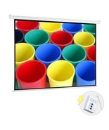 """100"""" Motorized Projector Screen, Electronic Automatic Projection Display... - $143.64"""