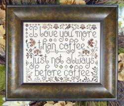 More Than Coffee cross stitch chart My Big Toe Designs - $10.00