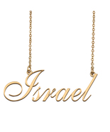 Israel Custom Name Necklace Personalized for Mother's Day Christmas Gift - $15.99+