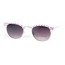 Cute Fruit Print White Frame Designer Club Sunglasses Womens - $8.95