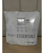 $60.00 Martha Stewart Essentials Waterproof Mattress Pad, Full, White - $28.71