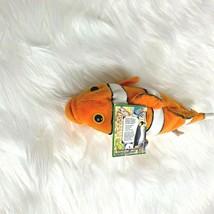 "1998 K & M Intl Aquatic Life Clown Fish 9"" Lgth Stuffed Animal Toy  - $9.49"