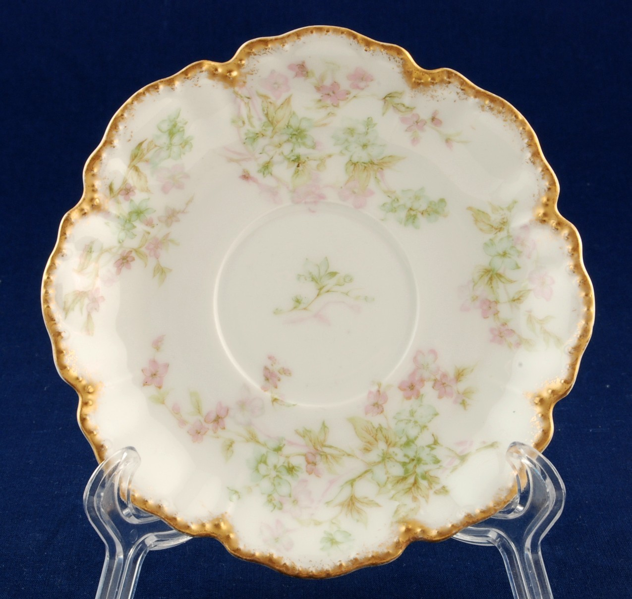 Limoges saucer for chocolate cup