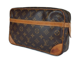 LOUIS VUITTON Compiegne 28 Monogram Canvas Pouch Clutch Bag LP2600 - $159.00