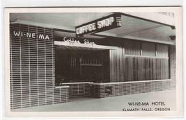 Wi Ne Ma Coffee Shop Hotel Klamath Falls Oregon RPPC postcard - $8.42