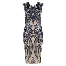New Fashion Sleeveless Elegant Blue Bodycon Evening Party Bandage Dress image 3