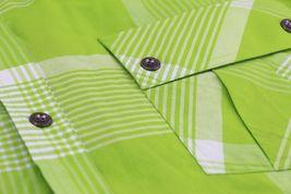 Men's Short Sleeve Cowboy Button Down Casual Plaid Pattern Western Dress Shirt image 11